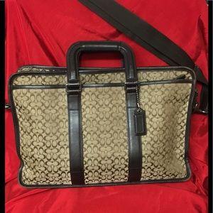 Brown Coach briefcase/shoulder bag